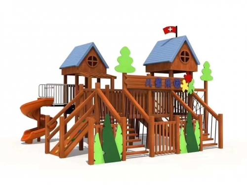 实木儿童滑梯